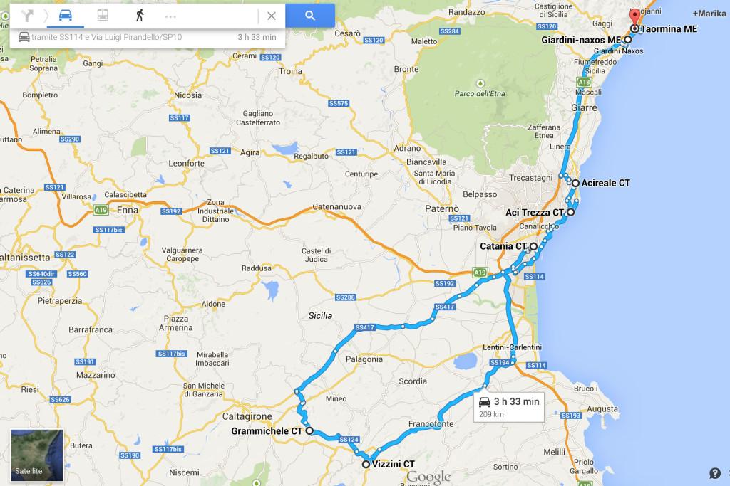 itinerario nella sicilia orientale