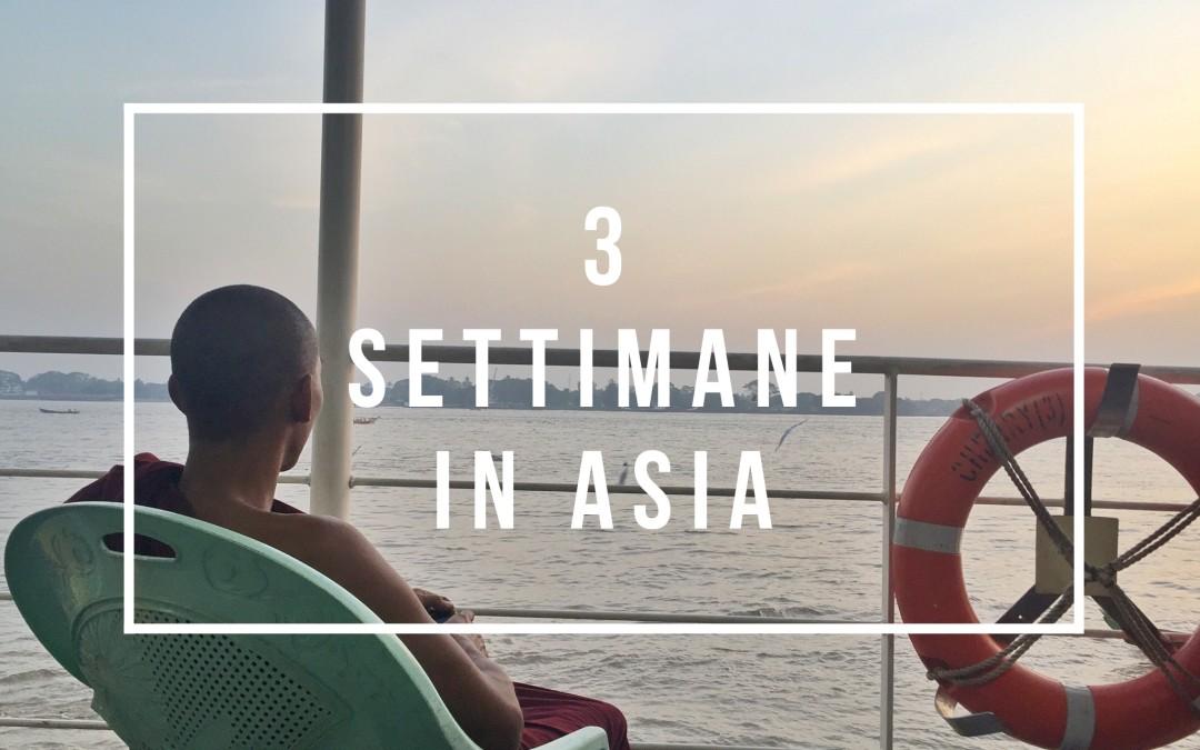 Tre settimane in Asia: il viaggio straordinario