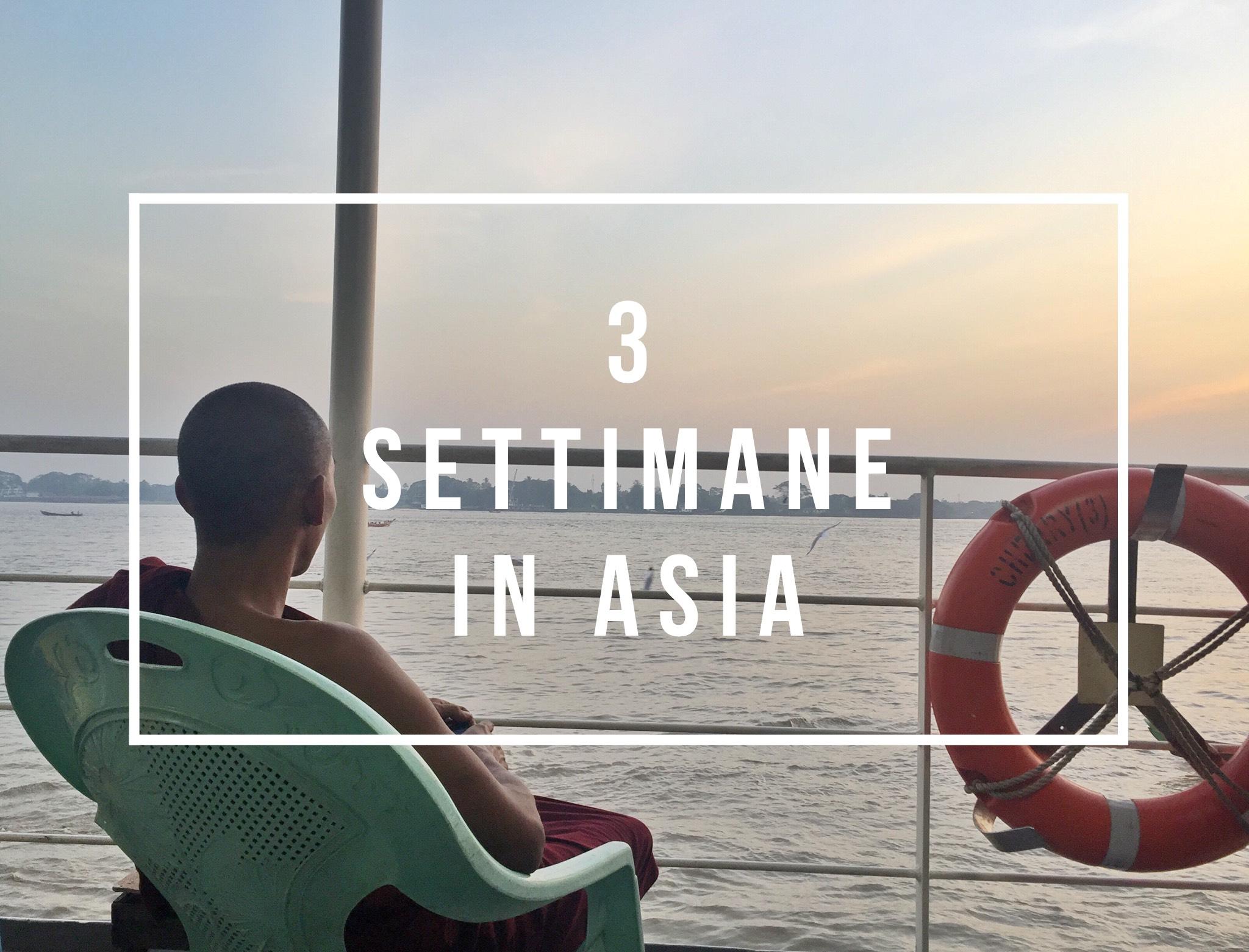 tre settimane in Asia
